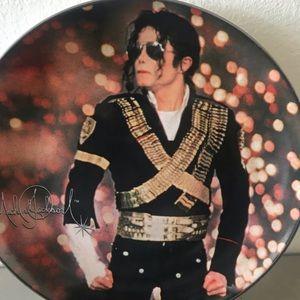 Collectable rare Num.7 Michael Jackson plate